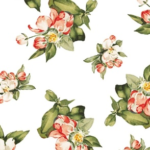 Hudson Small Floral in White