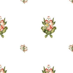 Hudson Floral Minimal in White