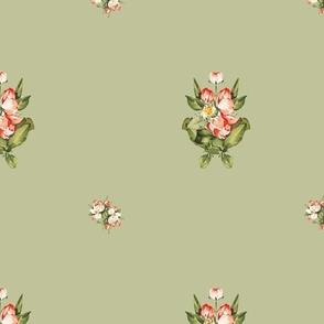Hudson Floral Minimal in Light Green