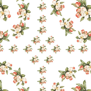 Hudson Pattern Floral in White in White