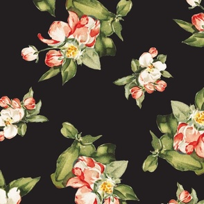 Hudson Small Floral in Black