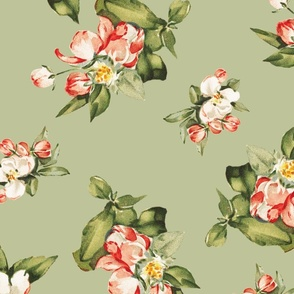 Hudson Small Floral  in Green