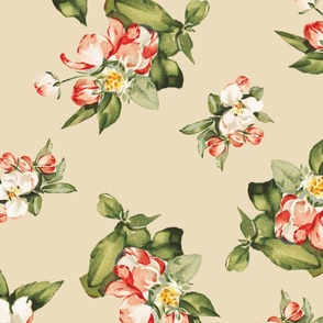 Hudson Small Floral in Beige