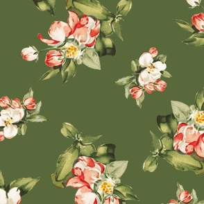 Hudson Small Floral in Dark Green