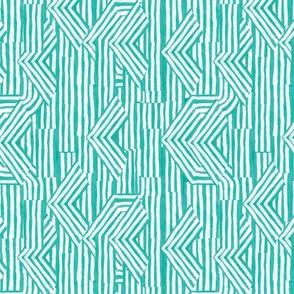 Jasper Arrow Stripe in Turquoise