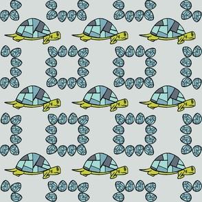 Turtle Print - Blue