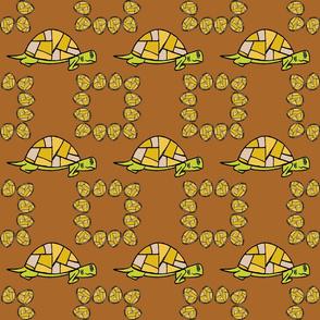 Turtle Print - Yellow