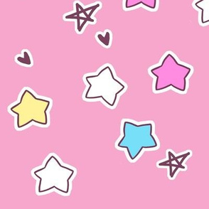 Large star coordinate on pink