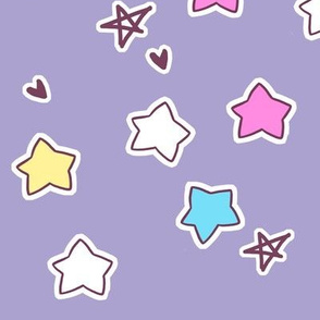 Large star coordinate on purple