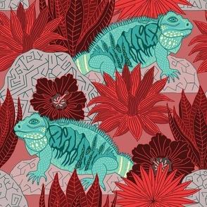 "Iguana (12"") - red"