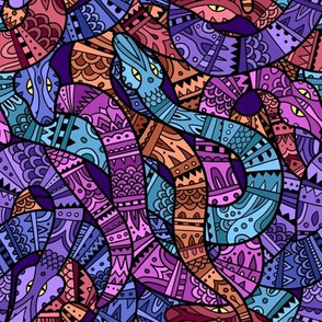 Ornamental Colorful Snakes