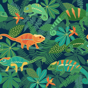 Chameleons in Jungle (Large scale)