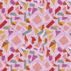 Jasper Collage Diamonds in Pink