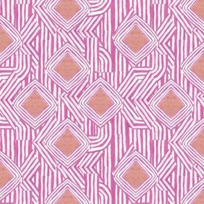 Jasper Diamond Stripe in Pink