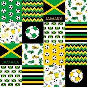 jamaica soccer quilt - football quilt