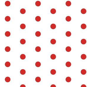 CHUBBY POIS RED ON WHITE