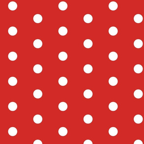 CHUBBY POIS WHITE ON RED