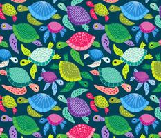 Colorful Sea Turtles