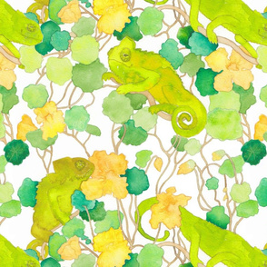 hiding in plain sight (green chameleons)