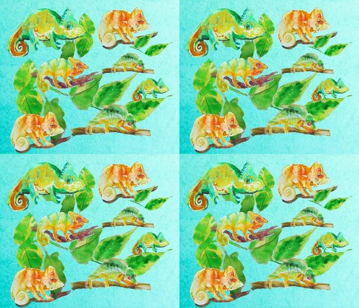 Watercolour chameleons
