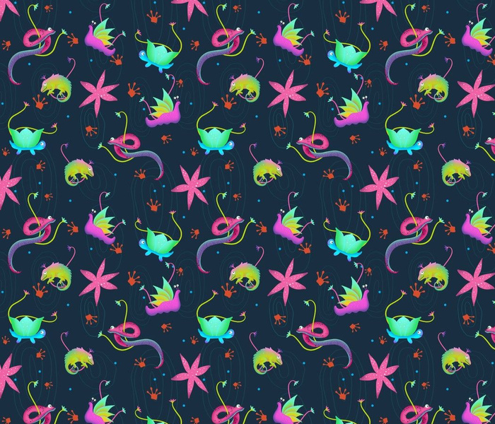 colourful reptile pattern