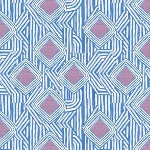 Jasper Diamond Stripe in Blue