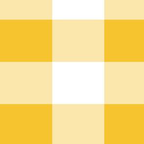 Yellow and White Buffalo Plaid Gingham