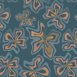 Funky Flowers - Blue