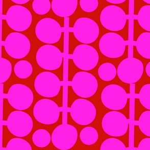 Bold Geometry_2_Fuchsia/Crimson