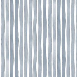 M+M Smoke Vertical Watercolor Stripes by Friztin.