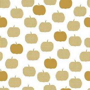 Gingham Pumpkins in Marigold|Renee Davis