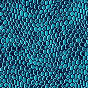 ★ REPTILE SKIN ★ Teal Blue - Large Scale / Collection : Snake Scales – Punk Rock Animal Prints 4