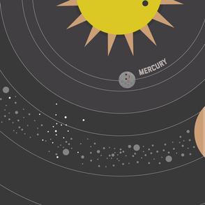 Solar System Buddies 1-yard Quilt Panel