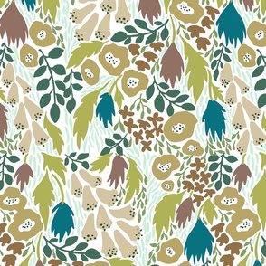 Scandi wildflowers in muted colors