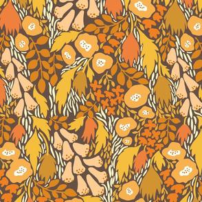 Scandi wildflowers in vintage colors