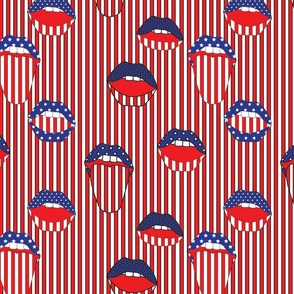 Americana Mouth Stripe in Red