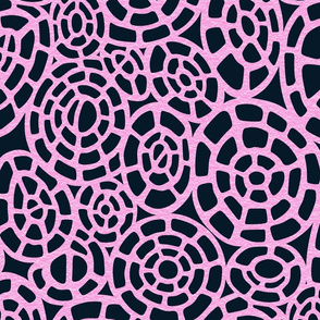 Cellular Pink on Dark Blue-Black
