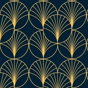 Art Deco Golden Circles