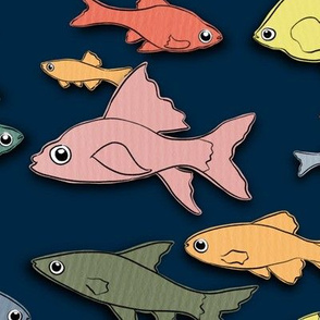 Paper cut fishes