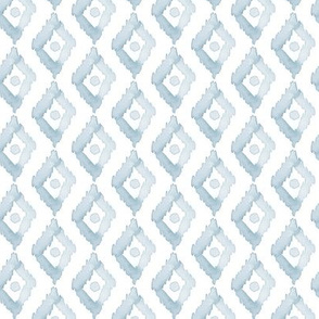 20-6r Pale French blue geometric diamond watercolor small