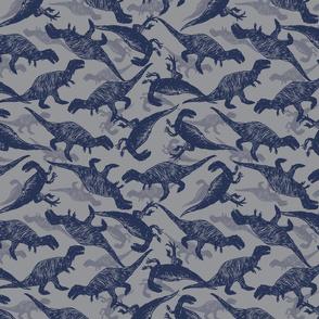 Dinosaur pen sketch grey meateaters pattern
