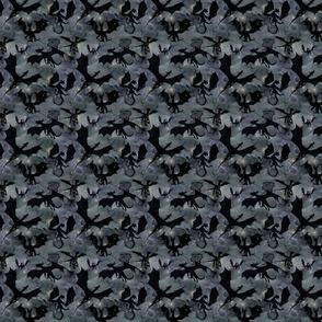 Small Dragons - black on night sky