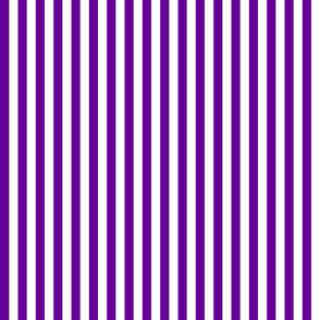 Purple and white half inch stripe