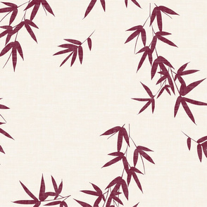 Burgundy Bamboo Leaves