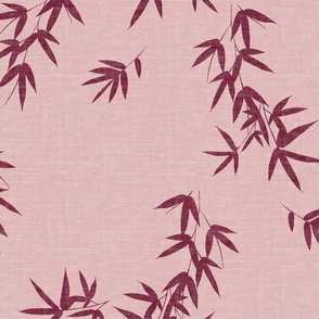 Blush Burgundy Bamboo Leaves