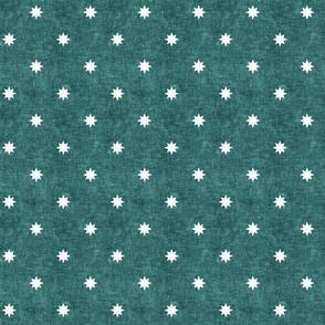 (small scale) stars - star home decor - vintage farmhouse / mid century modern - teal - LAD20
