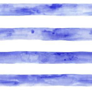Periwinkle watercolor horizontal stripes