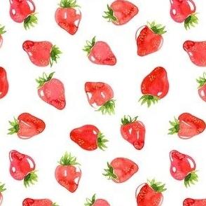 Watercolor Strawberries - Small Scale