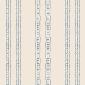 20-6i French Blue Flax Oatmeal Beige Stripe Vertical