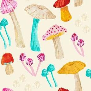 Mushroom Garden - Cream